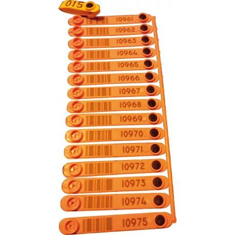 marque plastag 23 mm x105 orange