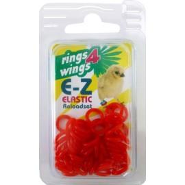 bagues elastiques ø 9mm rouge - paquet de 50