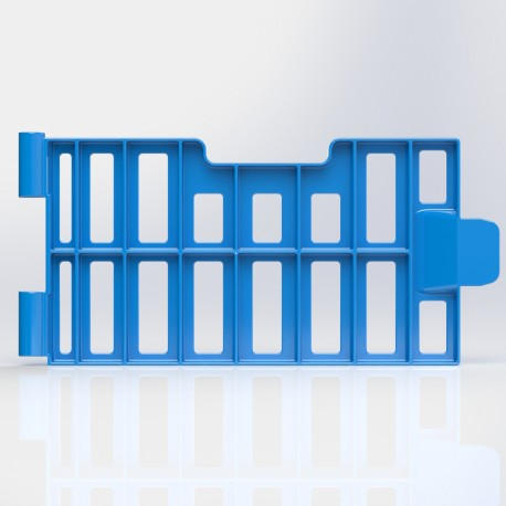porte laterale bleue cageot allibert