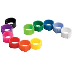 BAGUES CLIPS VIERGES 16MM x25 ROUGE