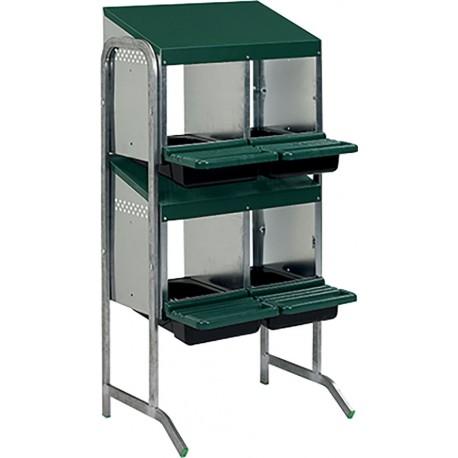pondoir 4 cases 2 etages simple face