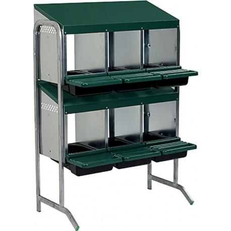 pondoir 6 cases 2 etages simple face