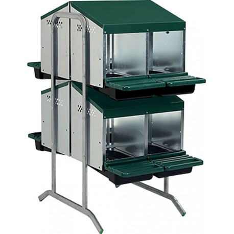 pondoir 8 cases 2 etages double face