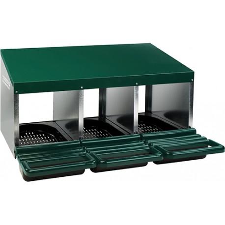 pondoir 3 cases plastique/galva