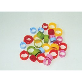 BAGUES CLIPS NUMEROTEES 12MM x25 ROUGE